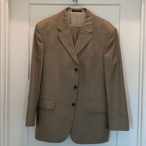 Vintage mens tan wool suit Jones New York